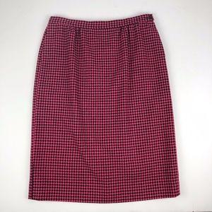 Vintage Pendleton 100% Virgin Wool Pencil Skirt 16
